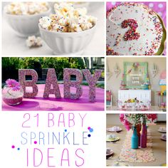 DIY 21 Ideas Tips Recipes and Free Printables For Beyond Adorable Baby sprinkle party ideas - C.R.A.F.T.