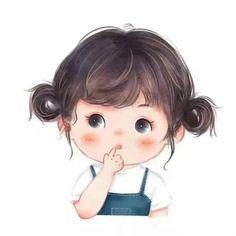 Girl Cartoon Characters, Cute Cartoon Girl, Sweet Drawings, Cute Girl Wallpaper, Cartoon Art Styles, Anime Art Girl, Cute Illustration, Cute Art, Dandelion