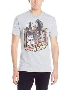 Star Wars Men's The Force Awakens BB-8 Chewie Rey Good Guys Celebration T-Shirt