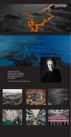 Edward Burtynsky, Photographer/Artist brought to you by Arc'teryx: Retail & Something More, retail at it's best.