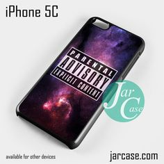 Parental Advisory Galaxy NT Phone case for iPhone 5C and other iPhone devices