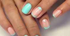 Accurate nails, Beach nails, Kodi nails, Mint and pink nails, Moon French manicure, Nails trends 2016, Perfect nails, Resort nails | lifestyle | Pinterest | Be…
