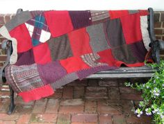 Felted Wool BLANKET made From Recycled Sweaters by heartfeltbaby, $109.00
