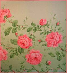 Vintage wallpaper - my aunt had some awful huge flowered black wallpaper.