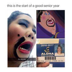 Fa, Mulan LOL More memes, funny videos and pics on Funny Disney Memes, Disney Jokes, Stupid Funny Memes, Haha Funny, Funny Posts, Funny Cute, Disney Pixar, Funny Stuff, 9gag Funny