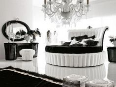 glamorous black and white bedrooms ideas