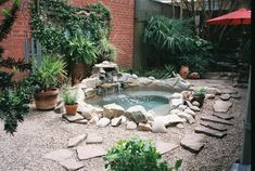 """Whoa. A Vacation in My Own Back Yard, Custom in-ground hot tub for super small yard, Finished the flagstone """"path"""", Pools Design"""