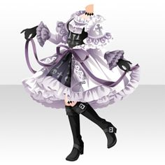 Komplette Outfits, Anime Outfits, Dress Anime, Doll Drawing, Drawing Anime Clothes, Fashion Design Drawings, Image Manga, Star Girl, Cute Chibi