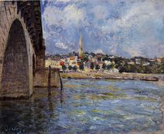 Alfred Sisley - The Bridge at Saint Cloud, 1877
