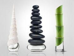 一个漂亮的包装是引起人们对香水购买欲的关键之一,所以才有了那么多独特而美丽的香水瓶。设计师 Igor Mitin 以大自然为灵感,设计了一系列ZEN香水包装概念,有白海螺、竹子、岩石,从包装上就去诠释香水的味道是让你沉浸在宁静与和平的大自然中。