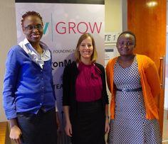 Carol Mwazi (Huru Consult, Kenya), Colleen Dyble, Eunice Wanjiru Thirikwa (Talinda East Africa, Kenya) #VVGROW 2015