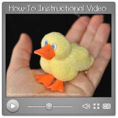 Learn How to Make a Washcloth Duck Today! | Diaper Cake Patterns
