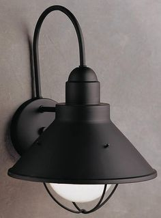 Kichler Seaside 1-Light Outdoor Wall Lantern Black 9023BK
