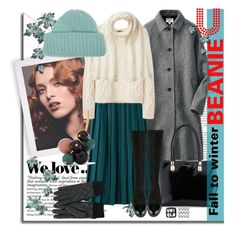 """Fall to winter beanie"" by rinagern ❤ liked on Polyvore featuring Uniqlo, Cole Haan, A.P.C., Casadei, Marni and Tak.Ori"