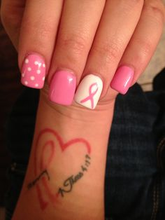 Oct breast cancer month!! Nails by Linh