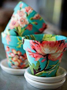 Tecidos e cola branca Make with fabric Mod Podge