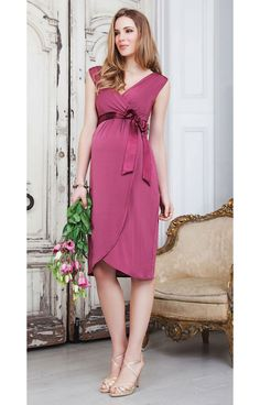 *New* Bella Maternity Dress in Raspberry by Tiffany Rose (Size 1) - Motherhood Closet - Maternity Consignment