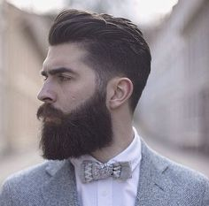 Chris John Millington - full thick dark beard mustache beards bearded man men mens' style dapper vintage retro styles barber grooming hair cut hairstyles bearding bowtie bow ties suits the hair not beard lol Beard And Mustache Styles, Beard Styles For Men, Beard No Mustache, Hair And Beard Styles, Perfect Beard, Beard Love, Men Beard, Full Beard, Chris John Millington