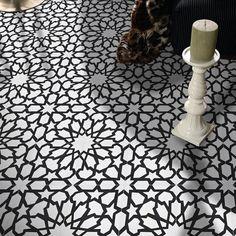 Moroccan Tiles, Moroccan Tile Backsplash, Morrocan Patterns, Moroccan Lanterns, Turkish Tiles, Portuguese Tiles, Moroccan Decor, Kitchen Backsplash, Black And White Tiles