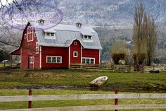 Big Red Barn Style House