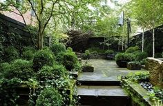 Julianne Moore's West Village Garden