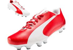 Puma Kids evoSPEED 5.3 FG Soccer Cleats...get your special Arsenal gear from SoccerPro now!