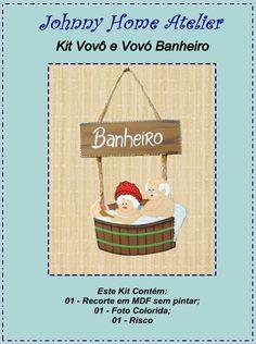 Kit Vovô e Vovó Banheiro | Johnny Home Atelier | Elo7