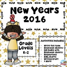 New Years 2016This unit for New Years 2016 includes activities that are perfect for the first week back at school after winter break.  The packet includes:New Years Write the Room Activity with response sheetsCrossword puzzle and fill in the boxes4 QR codes about celebrating New Years (please note these videos are filtered through Safeshare) The links are clickable which means if you have your computer hooked up to your whiteboard you could play the video on a bigger screen simply by…
