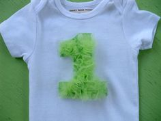 First Birthday Onesie Tulle / You pick color / by vpettet