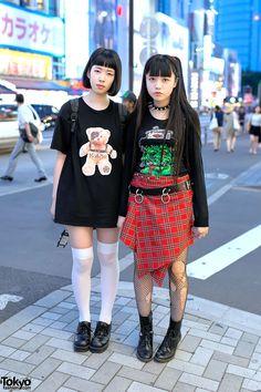 Demi (left) & Mohidead (right) - both students | 12 August 2014 | #couples #Fashion #Harajuku (原宿) #Shibuya (渋谷) #Tokyo (東京) #Japan (日本)