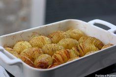 Pommes de terre rôties à la suédoise - Hasselback potatoes. Avec une petite salade un vrai délice !!