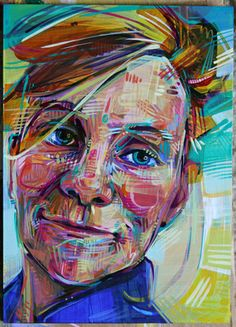 Gwenn Seemel - Self Portrait.  The way this artist overpaints her portaits again and again... and again fascinates me