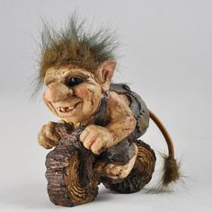 This fabulous Troll is made from sculpting. TROLL ON BIKE. These unique sculptures are sure to. vibrant personalities, fun, quirky and totally unique. Garden Figurines, Small Figurines, Viking Art, Viking Woman, Rooster Statue, Trolls, Folklore, Asian History, British History