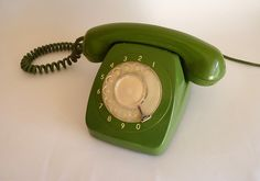 Vintage Green Phone (I'm not saying nice - and usable - things weren't made out of plastic. It's just a good thing, gotten WAY out of hand.)