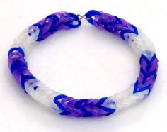 Rarity Inspired Friendship Bracelet, My Little Pony Rainbow Loom Stretchy Bracelet, My Little Pony Friendship Bracelet, Brony Fans
