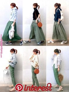 If you need casual, attempt tucking mini skirt within the One. Fashion Mode, Fall Fashion Outfits, Japan Fashion, Mode Outfits, Fashion Pants, Daily Fashion, Hijab Fashion, Spring Outfits Japan, Skirt Outfits Modest