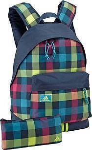 Adidas Checked Rucksack / Backpack / School Bag  + Pencil Case  BNWT