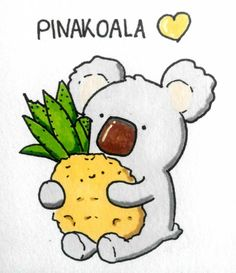 If you like Pinakoala... #pinakoala #pinacolada #pineapple #koala #cute #doodle #doodles #sketch #art #artwork #artstyle #comic…