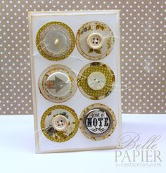 Layered Circles with Buttons and Thread CASE Study 200