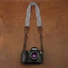Brown Stripe Camera Strap - by DeirdresLove