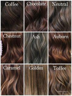 shades-of-brunette-milenashairdesign-hairinspiration-chocolatehair-coffeehair-ashbrownhair-chestnuthair-auburnhair-toffeehair-go/ - The world's most private search engine Shades Of Brunette, Brown Hair Shades, Brunette Color, Hair Color Shades, Light Brown Hair, Blonde Brunette, Hair Dye Colors, Ombre Hair Color, Brown Hair Colors