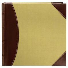 High Capacity 2-Up Photo Album - Brown/Beige