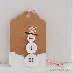 Cómo hacer etiquetas para los regalos de Reyes o Navidad