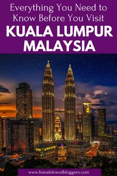 Are you planning a quick trip to Kuala Lumpur, Malaysia? We're here to help. We will tell you everything you need to know before you visit Kuala Lumpur including where to stay in Kuala Lumpur, where to eat in Kuala Lumpur, things to do in Kuala Lumpur, and more. Come check out this 2 day Kuala Lumpur itinerary and save it to your board for later. #kualalumpur #malaysia #kualalumpuritinerary