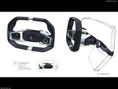 Renault » 2016 Trezor Concept Steering wheel sketch development
