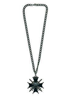 Halloween Gothic Cross with Swords Necklace