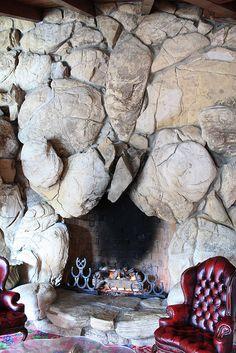 Fireplace, Madonna Inn.
