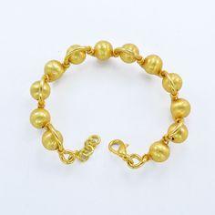 Gold plated beads bracelet Handmade bracelet New bead bracelet CopperJewelry New #Handmade #Miniature