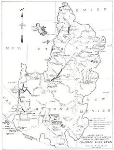 Map of Colorado River Basin; 1961_Herbert Hoover Online Digital Library