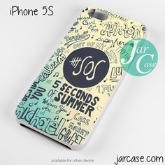 5 Seconds of summer poster art Phone case for iPhone 4/4s/5/5c/5s/6/6 plus
